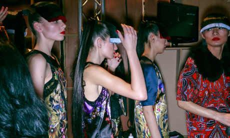 LFW AW13 Backstage | Belle Sauvage