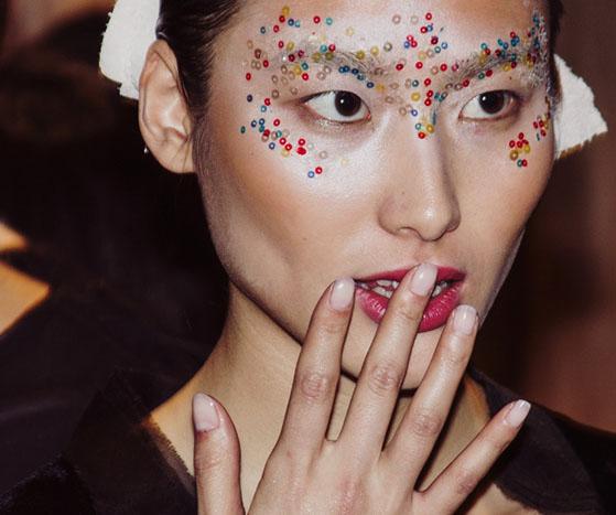 Backstage at London Fashion Week AW13 | Ji Cheng