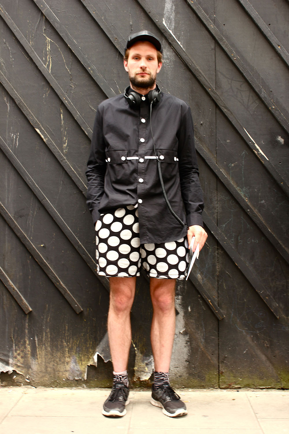 London Collections MEN Street Style William Richard Green in own Design