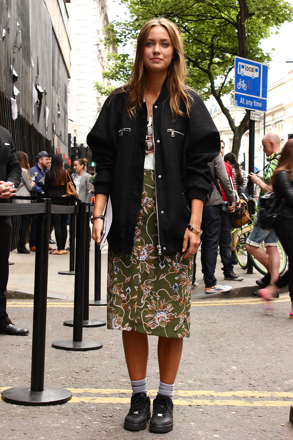 London Collections MEN Street Style Emily Ekman in Lindex