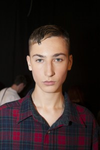 London Collections MEN Oliver Beard with Premier Backstage at E.Tautz