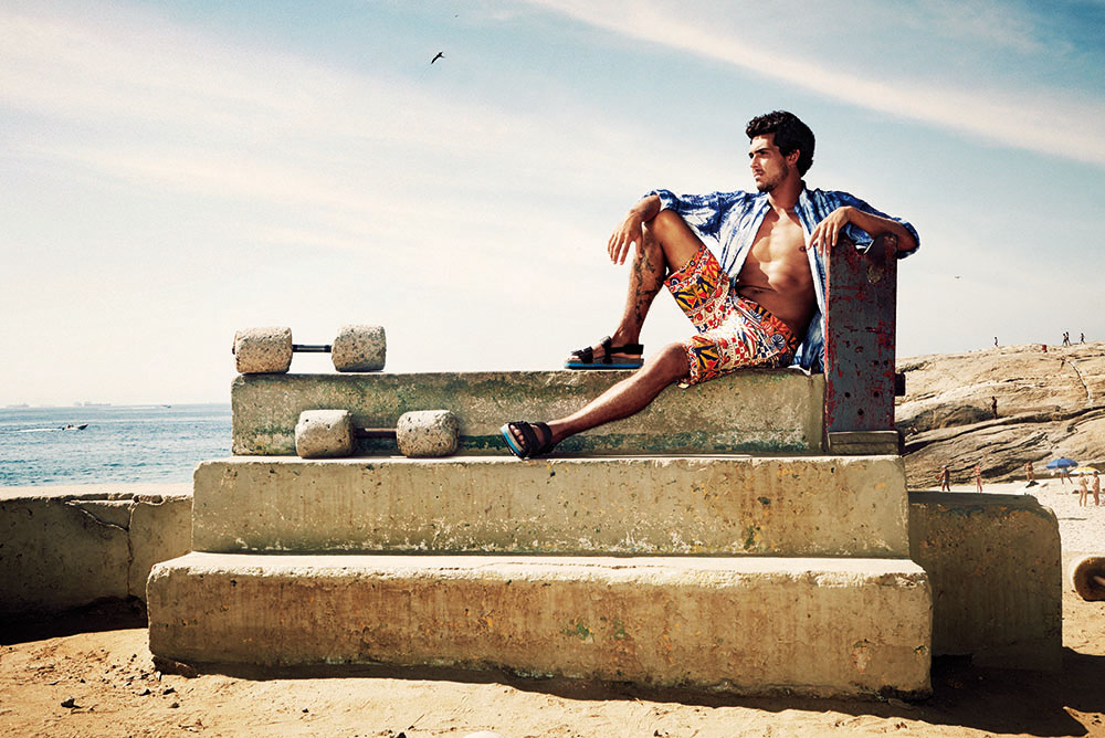 "PHOENIX MAGAZINE Men's fashion from sun-drenched Rio ""LOUD"" by Florian Renner"