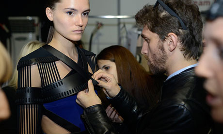 LFW SS14 Backstage | David Koma