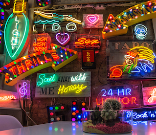 Robert Montgomery On Lights of Soho's Open Submission Exhibition