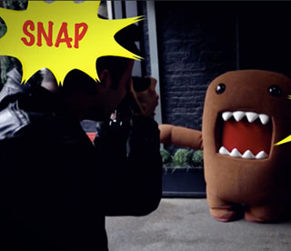 Domo Crashes London Fashion Week