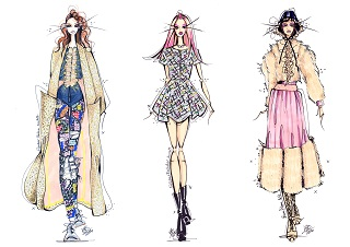 LFW AW16 | Day 1 | Illustrating The Catwalk