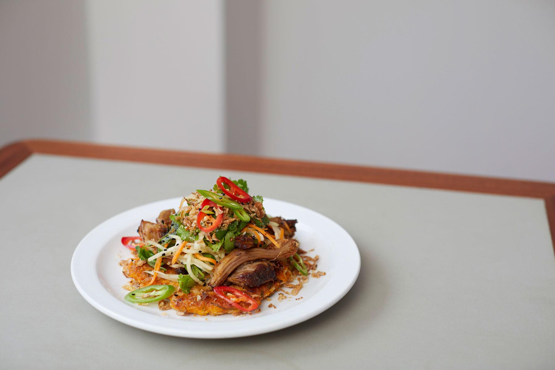 Kimchi-rosti,-slaw,-pickled-chillies-(add-pulled-pork)-(brunch)